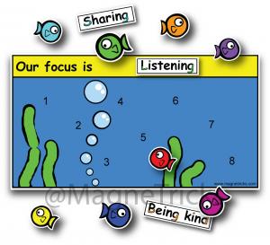 Fish Magnetic Reward Chart