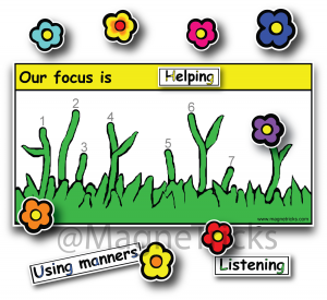 Flowers Magnetic Reward Chart