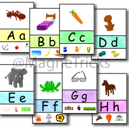 Magnetic Alphabet Display set