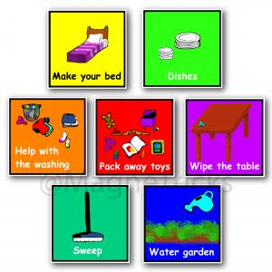 Home Helper Magnetic Chore Prompts