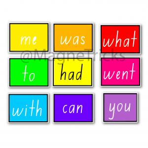 Magic magnetic sight word set